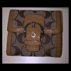 Coach Bags - Small Coach Wallet Signature look